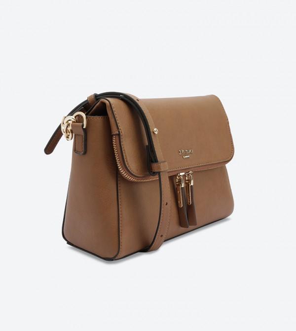 a87068da9bcea Small Zip Detail Cross Body Bag - Tan DOROTHEA