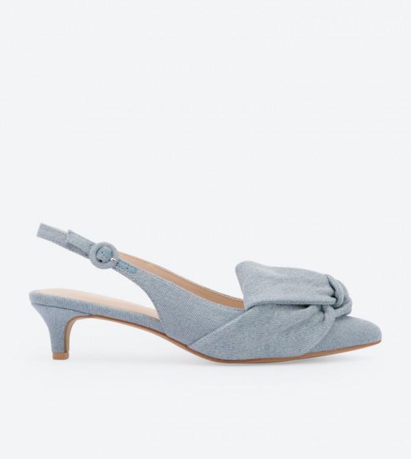 73afe27f9cc5 Promise Bow Details Slingback Sandals - Blue DSW-420777