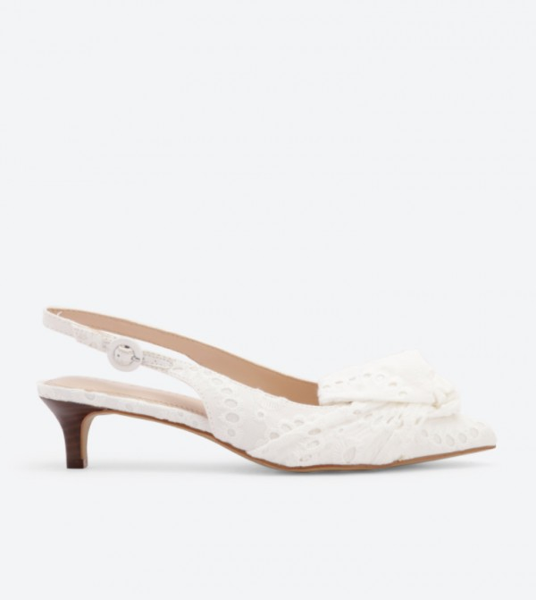 5a3c8f77346f Promise Bow Details Slingback Sandals - White DSW-420777