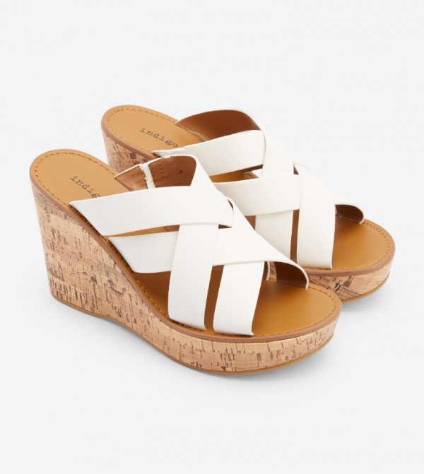 44763ab95aa8 Vechi Wedge Sandals - White DSW-422752