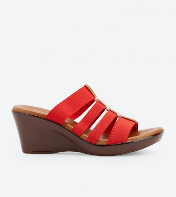 eb32cdf293551 Italian Shoemakers Clover Wedge Sandals - Red DSW-428638