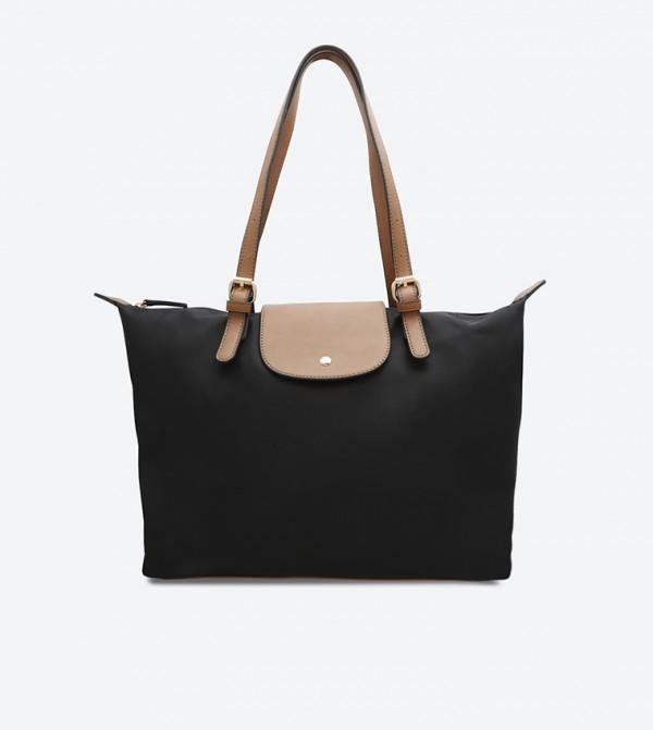 45746536d4757 Kate + Alex Cuffaro Twin Handles Button Snap Closure Tote Bag - Black  DSW387207