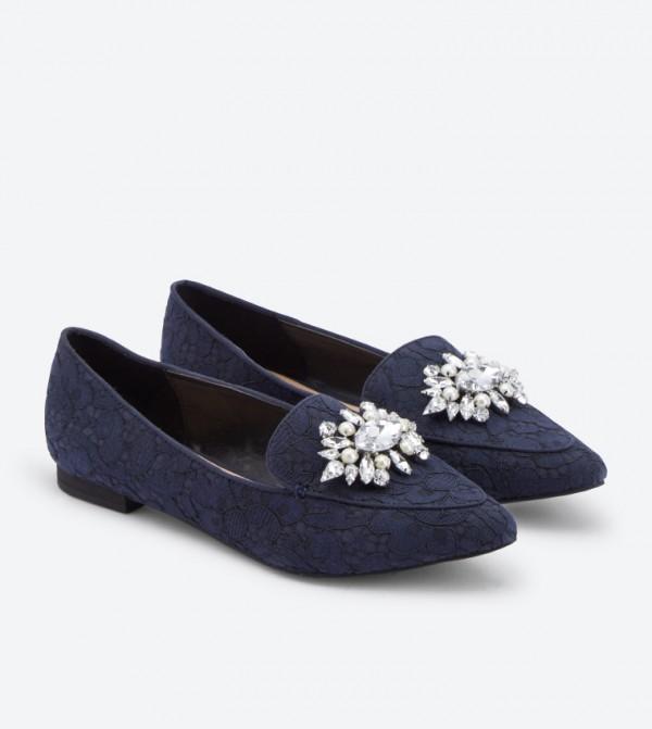 d866344d4ee Lovelian Jeweled Loafers - Navy DSW398557