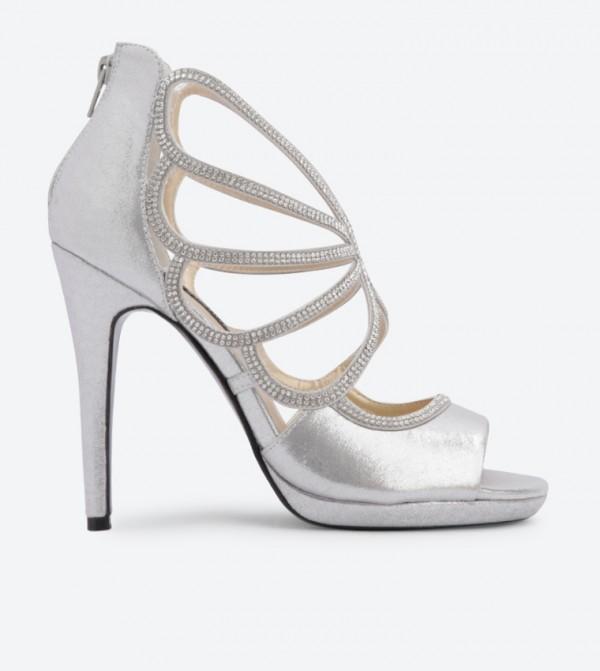 c6a455fb17d ... Heel Sandals - Silver DSW413090. DSW413090-SILVER-METALLIC