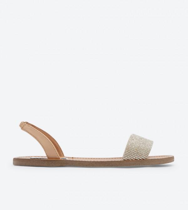 a8464128e66c Steve Madden Rock Rhinestone Embellish Slingback Sandals - White DSW414748