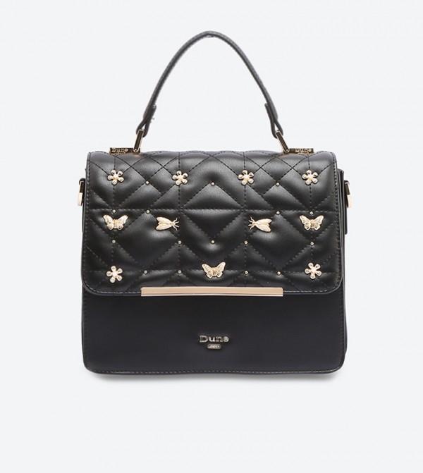 5ed24d9ec60cb Home  Butterfly Detail Box Bag - Black DUTTERFLY. DUTTERFLY-DUBLACK-PU