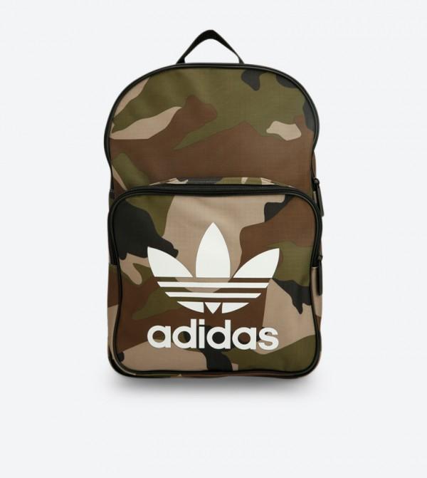 280b3cae384 Adidas Originals Classic Camouflage Printed Top Zip Backpack - Multi DV2474