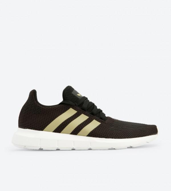 b6d2b69a45dbb Adidas Originals Swift Run Striped Sneakers - Black F34309