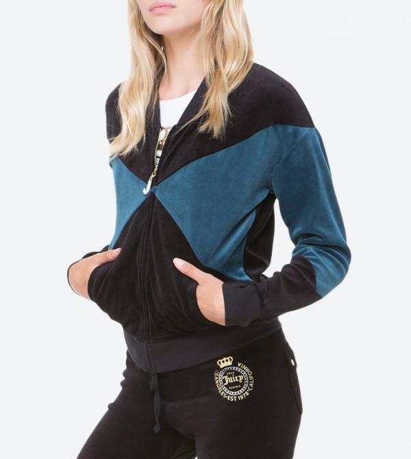 d0470f8b Home; Velour Crown Luxe Crest Westwood Jacket - Black FW17-WTKJ87122.  FW17-WTKJ87122-PITCH-BLCK