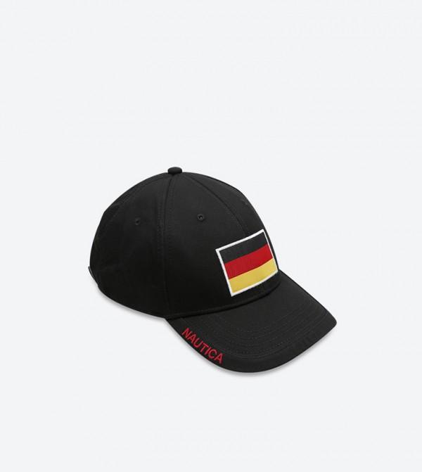 Germany 6 Panel Baseball Cap - Black 2490583565e8