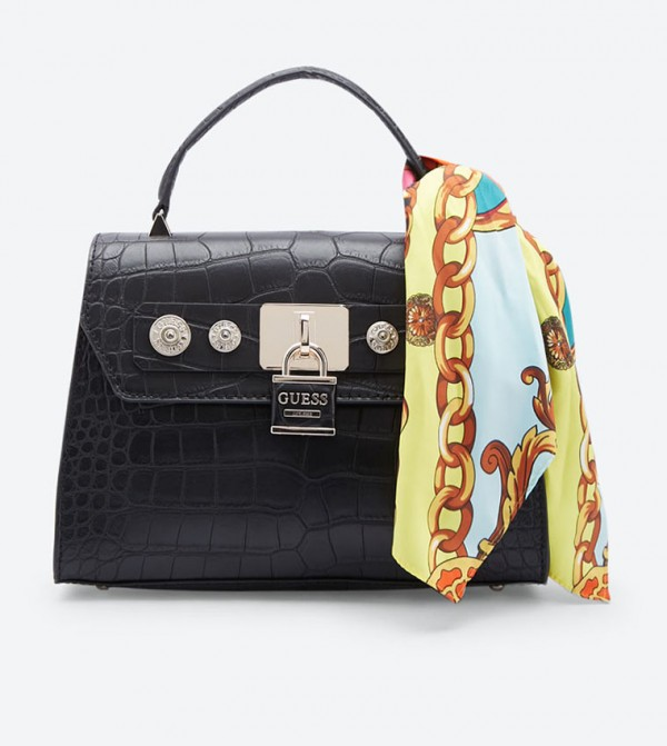 Guess Anne Marie Top Handle Cross Body Bag - Black c99269af031b0