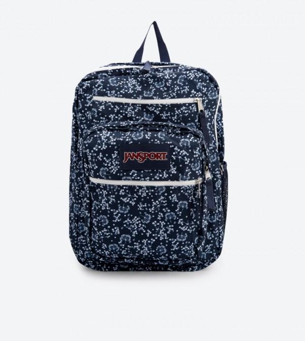 29692196b14b Home  Zip Closure Printed Backpack - Navy JS00TDN750E. JS00TDN750E-NAVY