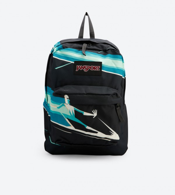 7948abf2ad7d Jansport Incredible Zip Closure Printed Backpack - Black JS0A3P1F4T7