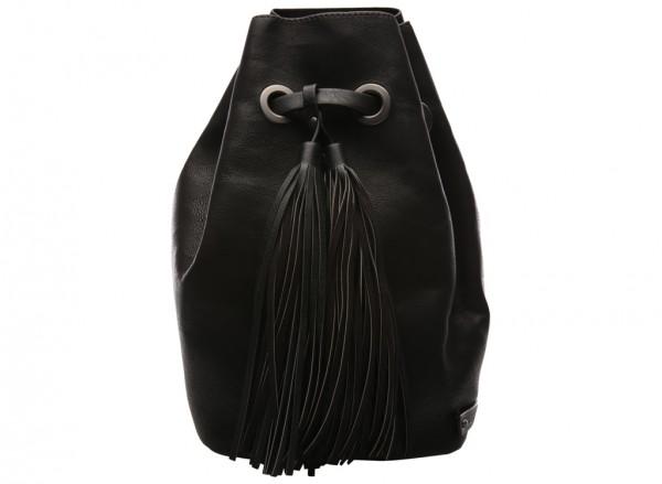 On The Fringe Black Backpacks