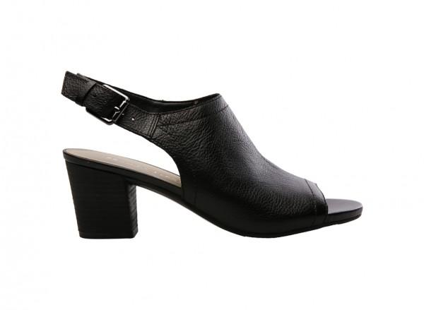 L-Monaco Black Mid Heel