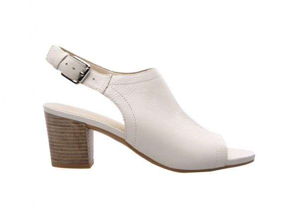 L-Monaco White Mid Heel