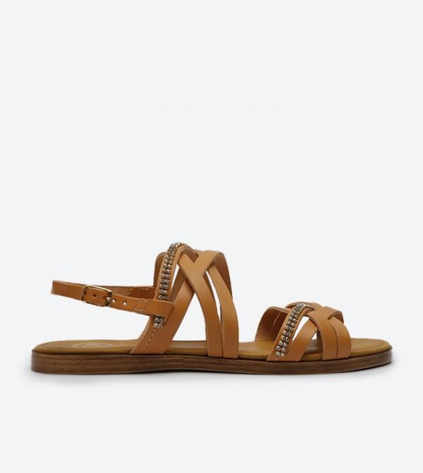 426295d2465 Dune London Laiwu Jewelled Flat Sandals - Tan LAIWU