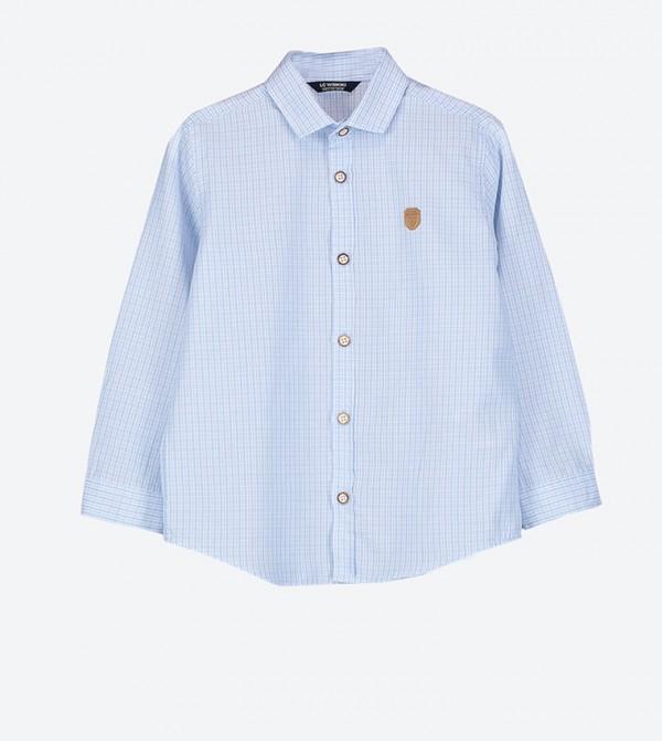 18ca04dc9f5 Home; Long Sleeve Check Pattern Shirt - Blue. LCW-9S3956Z4-GX0-BLUE