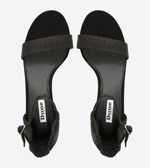 f818f7c8f5 Maygo Di Rose Embellished Block Heel Sandals - Black