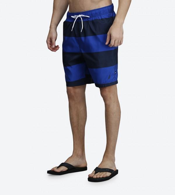 b30f5ccdef Nautica Quick Dry Wide Stripe Drawstring Swim Shorts - Blue N T71634