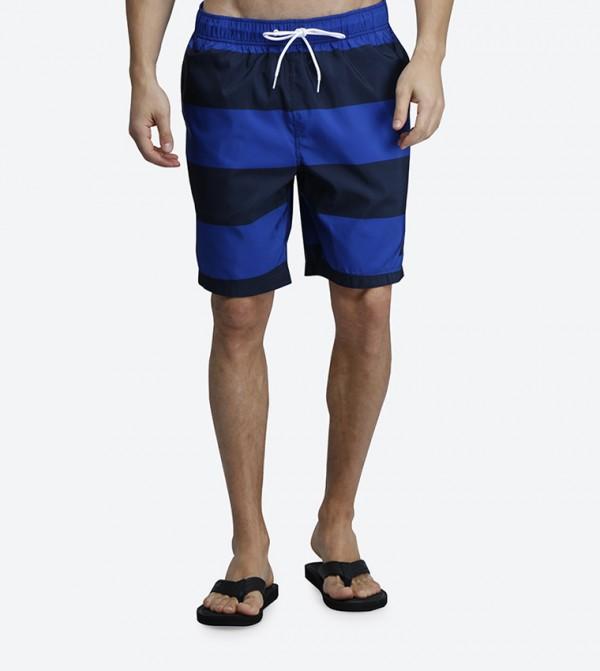 2d06dda1f8 Home; Quick Dry Wide Stripe Drawstring Swim Shorts - Blue N T71634. N -T71634-40P-BRIGHTCBLT