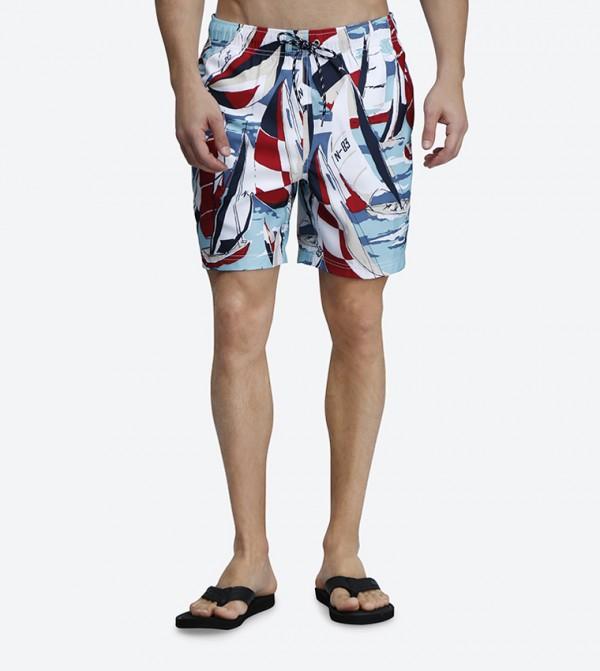 3ef0b7bd37 Nautica Classic Fit Printed Swim Shorts - Multi N T81103