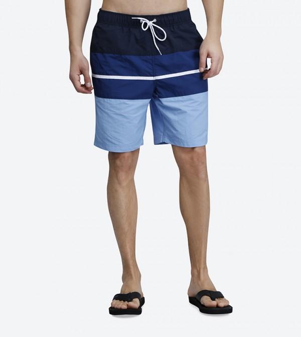 3317e4861e Nautica Classic Fit Bold Stripes Swim Shorts - Navy N T81919