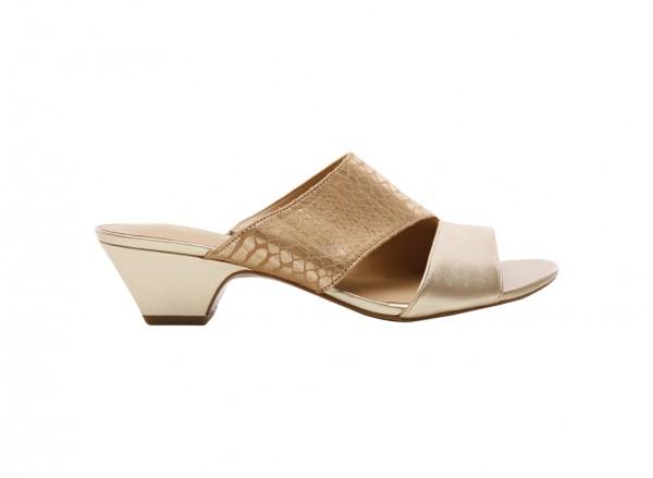 Buena Gold Mid Heel