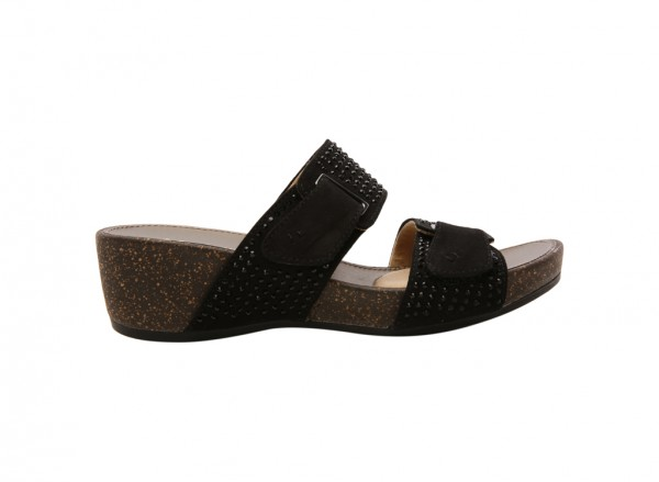 Carena Black Wedges