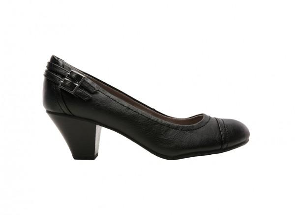 Give Black Mid Heel