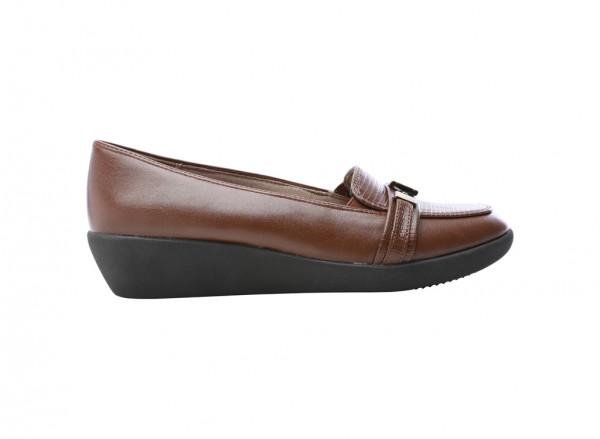 حذاء ميرج كعب سميك بنى