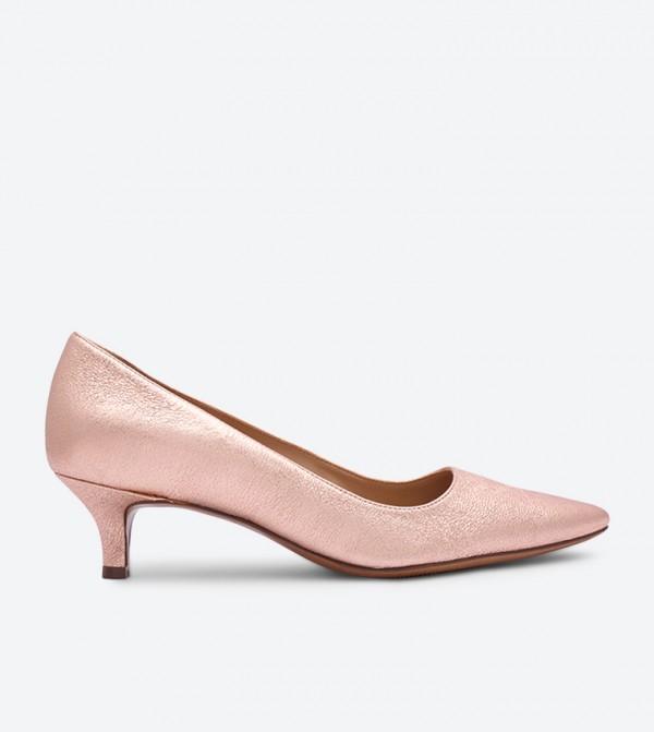 726faf966 حذاء بيبا بكعب عالي لون ذهبي وردي