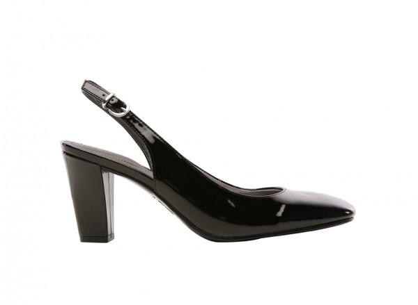 Premium Black Mid Heel