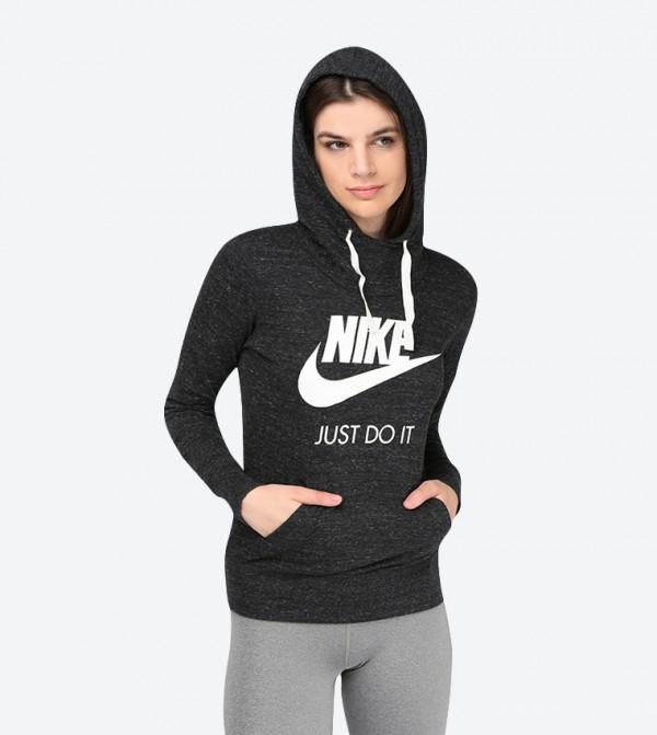 102b2af87121 Nike Gym Vintage Long Sleeve Hoodie - Black NIKE914414-010
