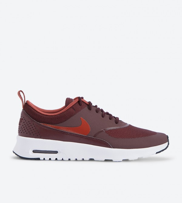 8f7e56863b Home; Air Max Thea Lace Up Closure Sneakers - Burgundy NK599409-615.  NK599409-615-BURGUNDY