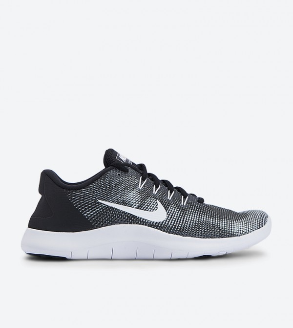 c8a693059d2c9 Flex 2018 Rn Lace Up Closure Sports Shoes - Black NKAA7397-001