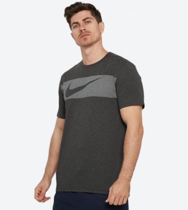 769ce546 Nike Dri-Fit Breathe Graphic Short Sleeve Training T-Shirt - Black