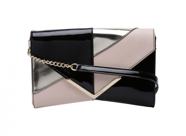 Nine West Collection Clutches Handbag For Women - Man Made Black-NW60364328-BLACK