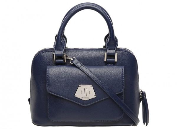 Nine West Rock And Lock Handbag Mini Satchel Sm For Women - Man Made Blue