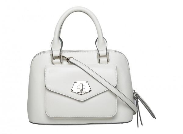 Nine West Rock And Lock Handbag Mini Satchel Sm For Women - Man Made White