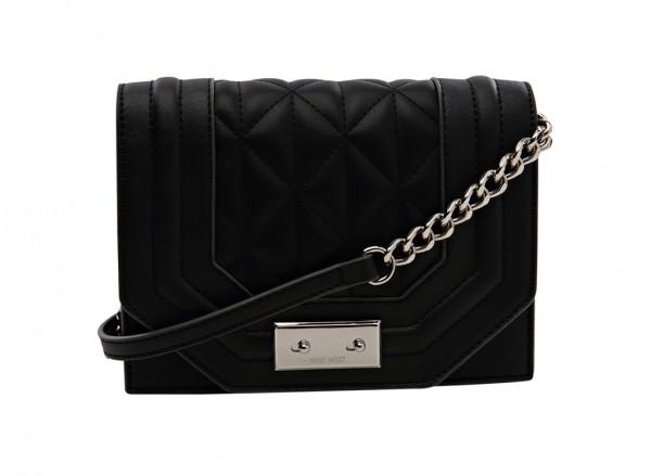 Nine West internal Affairs Handbag Cross Body Sm For Women - Man Made Black