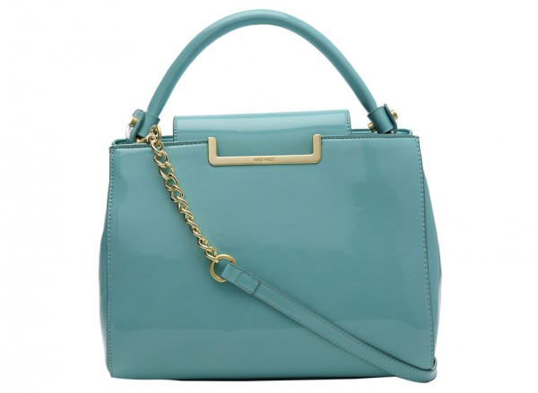 Nine West Strictly Ballroom Handbag Satchel Md For Women - Man Made Blue