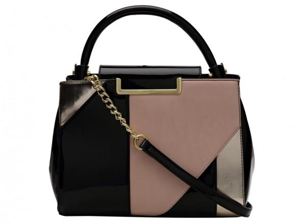 Nine West Strictly Ballroom Handbag Satchel Md For Women - Man Made Purple & Pink