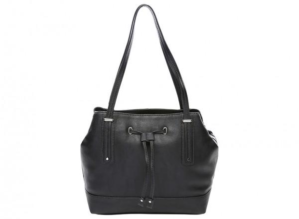 Nine West Tipping Point Handbag For Women - Man Made Black-NW60414398-BLACK