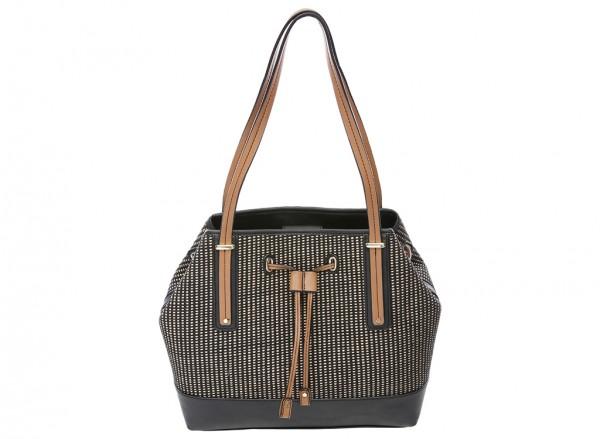 Nine West Tipping Point Handbag For Women - Man Made Black-NW60414403-BEIGE