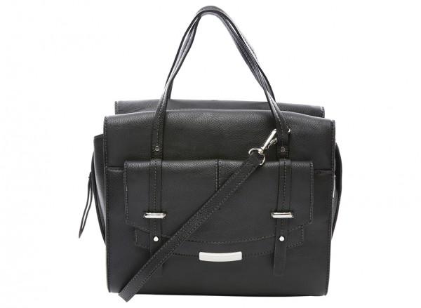 Nine West Tipping Point Handbag For Women - Man Made Black-NW60414404-BLACK
