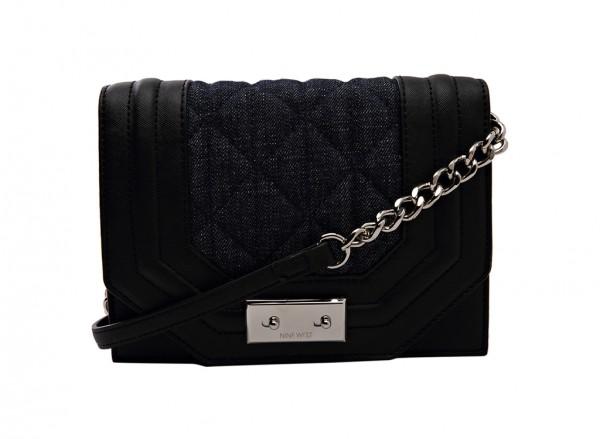 Nine West Internal Affairs Handbag Cross Body Sm For Women - Fabric Black