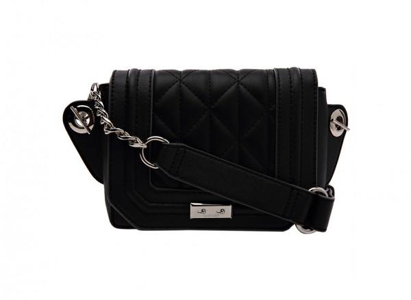 Nine West Internal Affairs Handbag Belt Bag Sm For Women - Man Made Black-NW60414742-BLACK