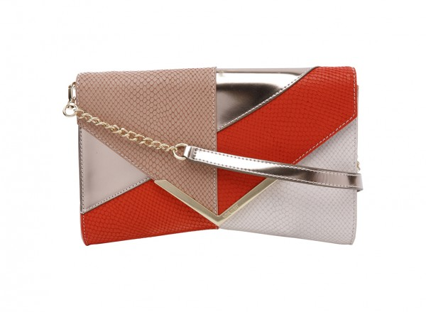 Nine West Collection Clutches Handbag For Women - Leather Red