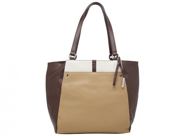 Pockets A Plenty Beige Shoulder Bags